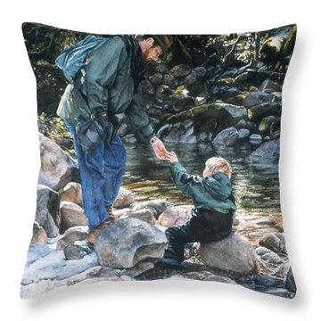 Happy Isles Throw Pillow