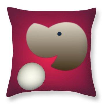 Throw Pillow featuring the digital art Happy by John Krakora