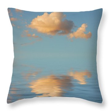 Happy Little Cloud Throw Pillow by Jerry McElroy