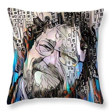 Happy Man's Face Throw Pillow