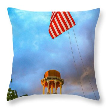 Happy Memorial Day  Throw Pillow by Glenn Feron