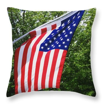 Happy Memorial Day Throw Pillow