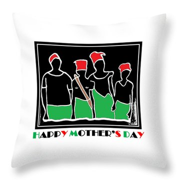 Happy Mother's Day 3 Throw Pillow