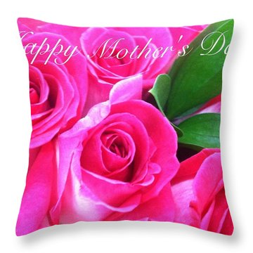 Happy Mother's Day Throw Pillow by Alohi Fujimoto