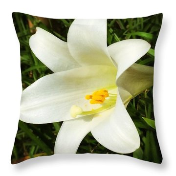 Happy Mothers Day #enlight #lily #flower Throw Pillow