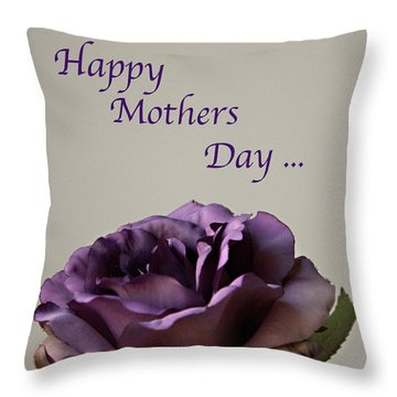 Happy Mothers Day No. 2 Throw Pillow by Sherry Hallemeier