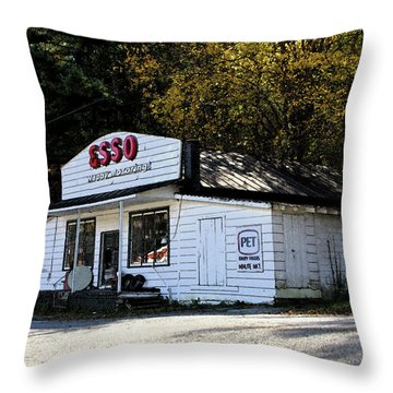 Happy Motoring Throw Pillow by Dale R Carlson