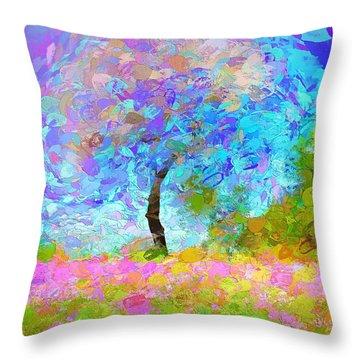 Happy Nature Throw Pillow