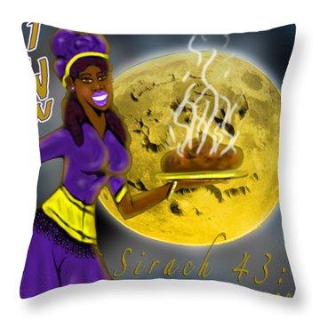 Happy New Moon Sirach 43 Throw Pillow