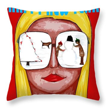 Happy New Year 51 Throw Pillow by Patrick J Murphy