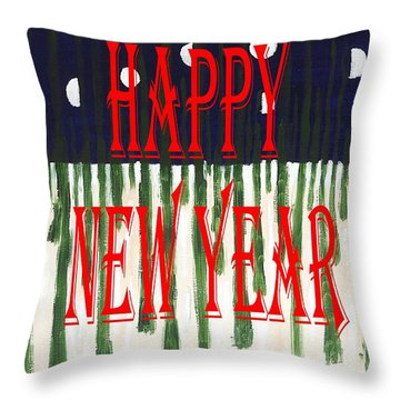 Happy New Year 92 Throw Pillow by Patrick J Murphy