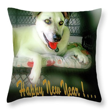 Happy New Year Art  Throw Pillow