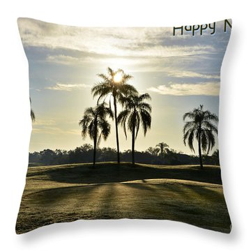 Throw Pillow featuring the photograph Happy New Year by Lorenzo Cassina