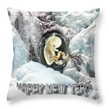 Happy New Year Throw Pillow by Otto Rapp