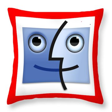 Happy Throw Pillow by Now