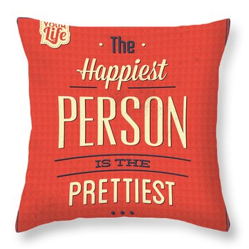 Happy Person Throw Pillow