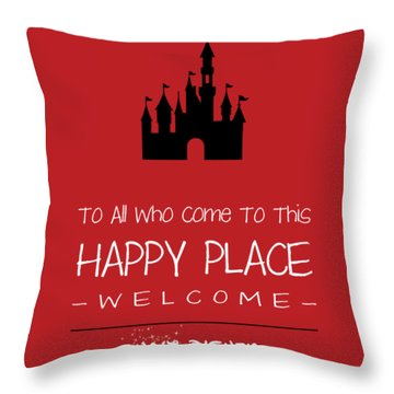 Happy Place Throw Pillow