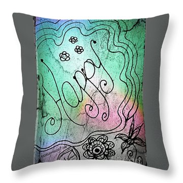 Happy Throw Pillow