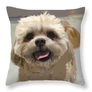 Happy Shih Tzu Throw Pillow