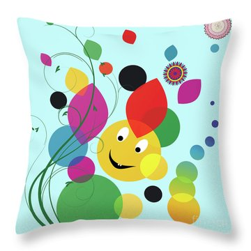 Happy Spring Image Throw Pillow by Heinz G Mielke
