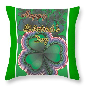 Happy St. Patrick's Day Throw Pillow by Sherril Porter