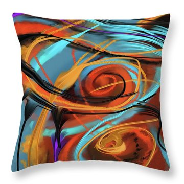 Throw Pillow featuring the painting Happy by S G