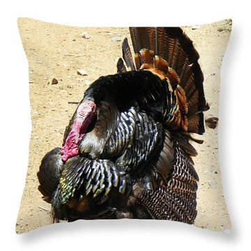 Happy Thanksgiving Throw Pillow by Joseph Frank Baraba