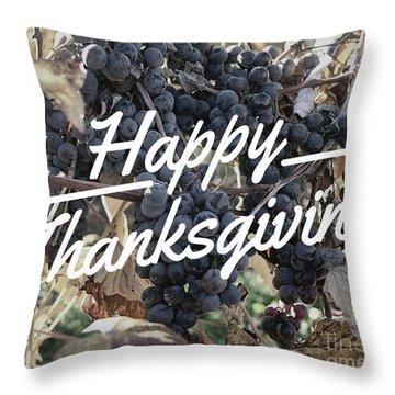 Happy Thanksgiving Throw Pillow