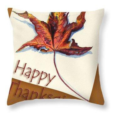 Happy Thansgiving Throw Pillow