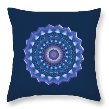 Happy To Be Blue Throw Pillow