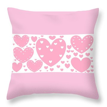 'just Hearts' Throw Pillow
