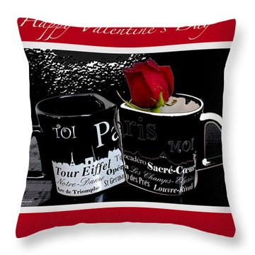 Happy Valentine's Day Throw Pillow by Ivete Basso Photography