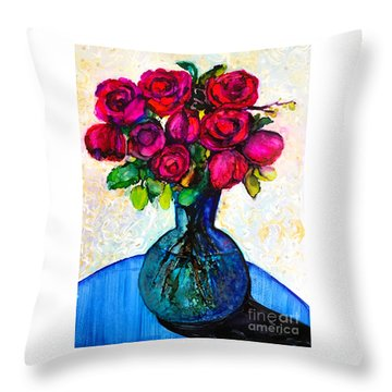 Throw Pillow featuring the painting Happy Valentine's Day by Priti Lathia