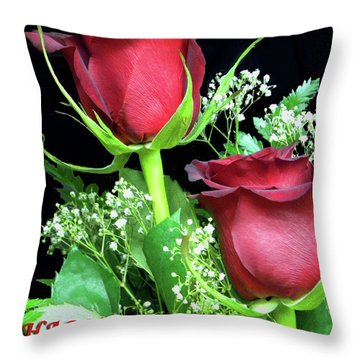 Throw Pillow featuring the photograph Happy Valentines Day by Sandi OReilly