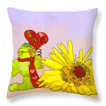 Throw Pillow featuring the photograph Happy Valentine's Day by Teresa Zieba