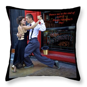 Happy Valentine's Day From Argentina Throw Pillow
