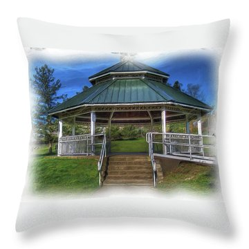 Throw Pillow featuring the photograph Happy Valley Gazebo Art  by Thom Zehrfeld