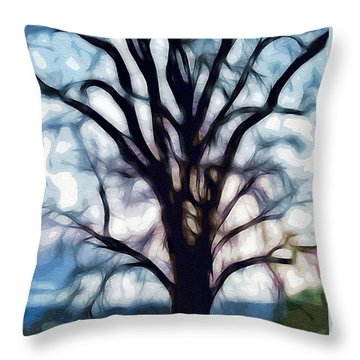 Happy Valley Tree Throw Pillow