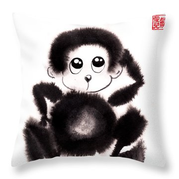 Happy Year Of The Monkey Throw Pillow