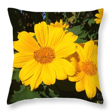 Happy Yellow Throw Pillow
