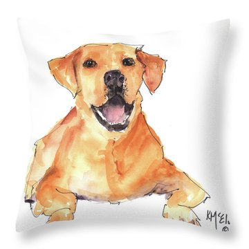 Happy You Are Here Throw Pillow