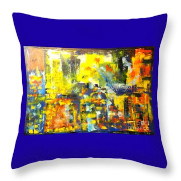 Happyness And Freedom Throw Pillow