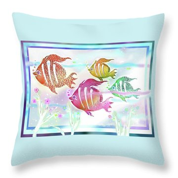 Happiness Is A Clean Ocean  Throw Pillow