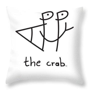 Happythecrab.com Throw Pillow