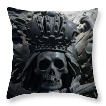 Hapsburg Tombs Vienna Austria Throw Pillow by Thomas Marchessault