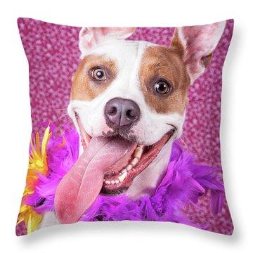 Hapy Dog Throw Pillow