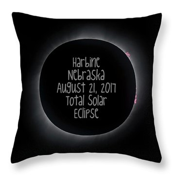 Harbine Nebraska Total Solar Eclipse August 21 2017 Throw Pillow