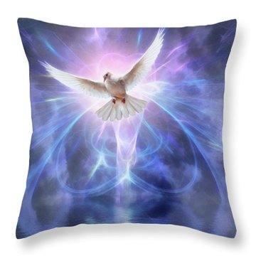 Harbinger II #fantasy #fantasyart Throw Pillow