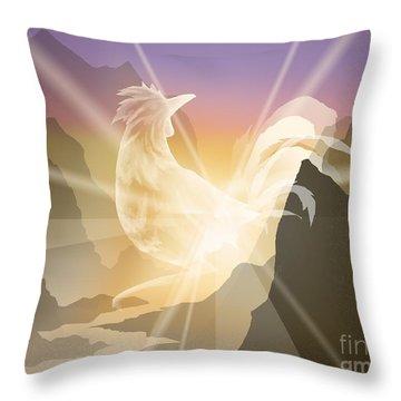 Harbinger Of Light Throw Pillow by Alice Chen