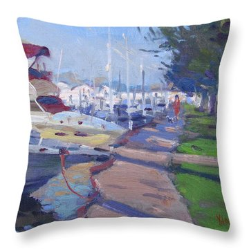 Harbor At North Tonawanda Throw Pillow